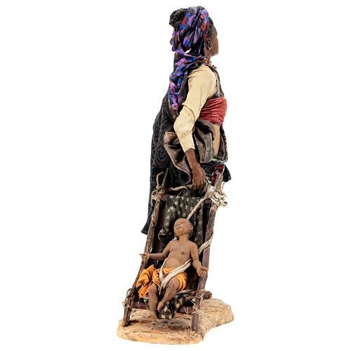 Femme maure avec enfant 30 cm atelier Angela Tripi 7