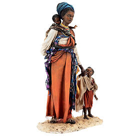 Moor woman with child in hand, 30 cm Tripi s1