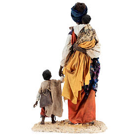 Moor woman with child in hand, 30 cm Tripi s11