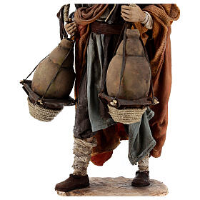 Man carrying jugs around neck 30 cm, Angela Tripi nativity s8