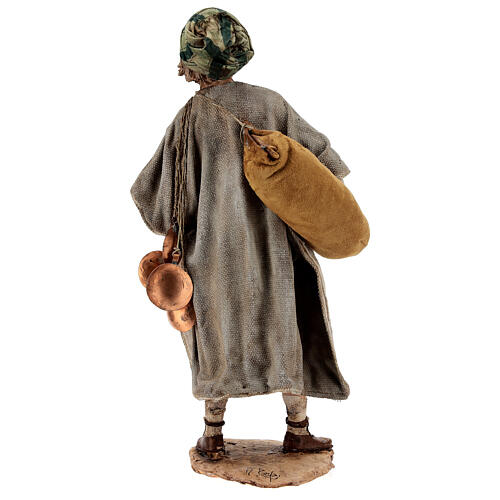 Man with saddlebag, 30 cm Angela Tripi 8
