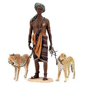 Esclavo con guepardos 30 cm Angela Tripi s1