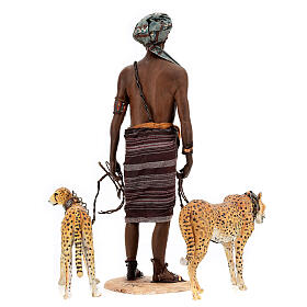 Esclavo con guepardos 30 cm Angela Tripi s12