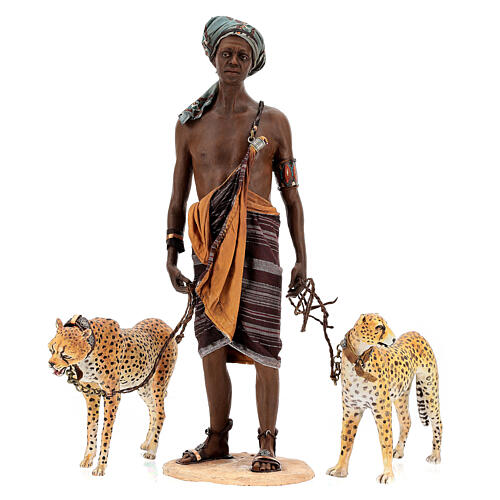 Esclavo con guepardos 30 cm Angela Tripi 1