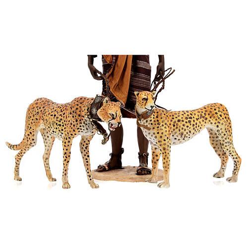 Esclavo con guepardos 30 cm Angela Tripi 2