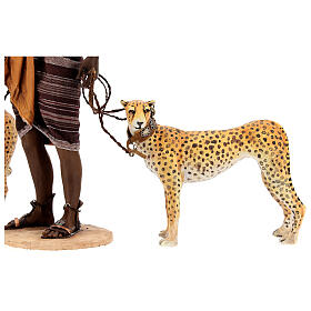 Schiavo con ghepardi 30 cm Angela Tripi s7