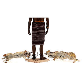 Schiavo con ghepardi 30 cm Angela Tripi s13