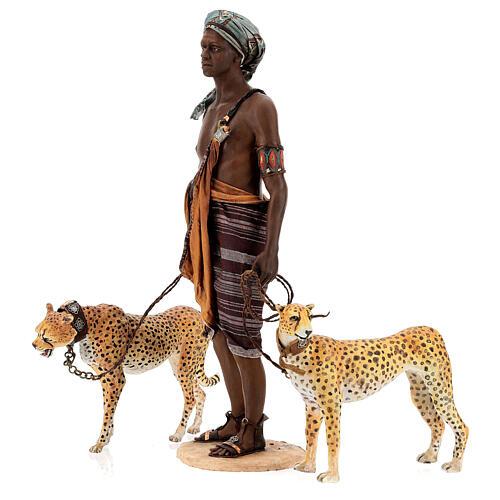 Schiavo con ghepardi 30 cm Angela Tripi 8