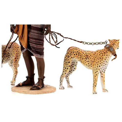 Schiavo con ghepardi 30 cm Angela Tripi 9
