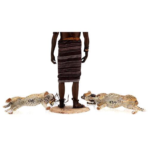 Schiavo con ghepardi 30 cm Angela Tripi 13