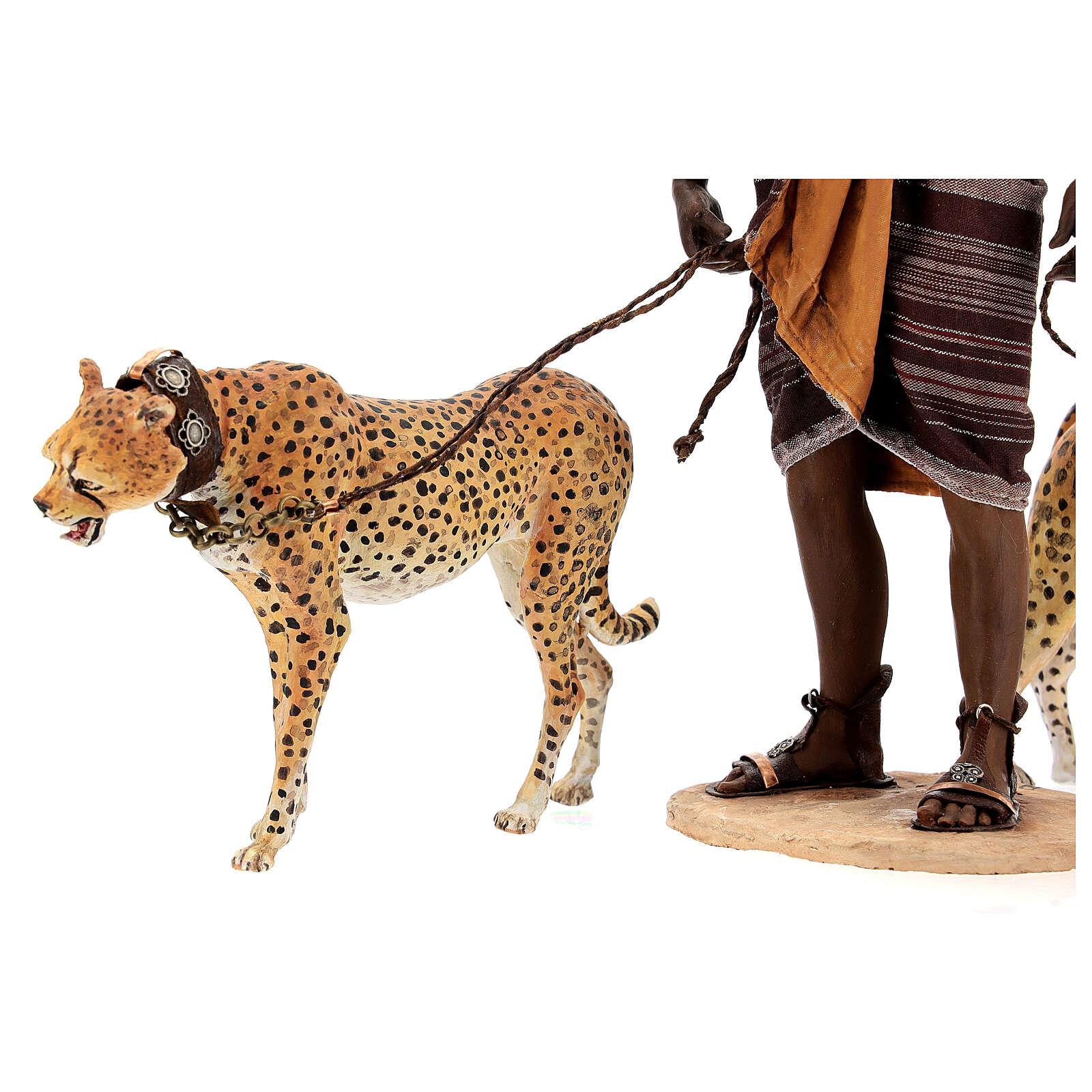Slave with cheetahs, 30 cm Angela Tripi 4