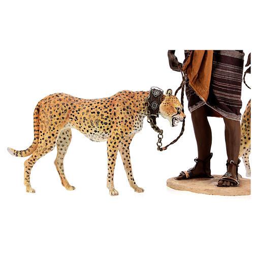 Slave with cheetahs, 30 cm Angela Tripi 5