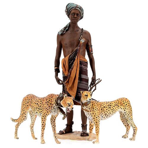 Slave with cheetahs, 30 cm Angela Tripi 6