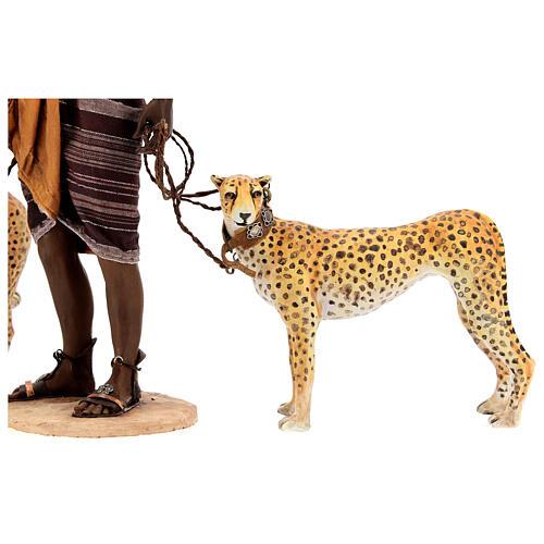 Slave with cheetahs, 30 cm Angela Tripi 7