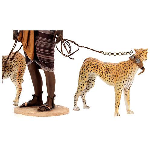 Slave with cheetahs, 30 cm Angela Tripi 9