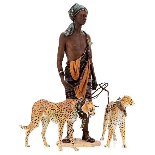 Slave with cheetahs, 30 cm Angela Tripi 10