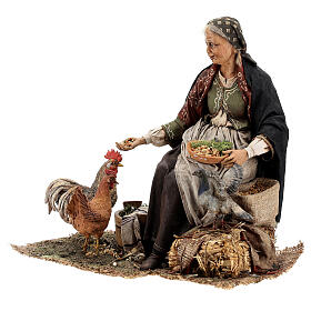 Woman sitting with chickens, 30 cm Tripi s3