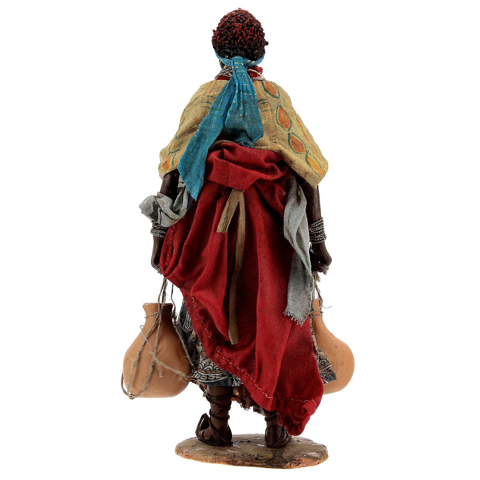 Pastora morena con tinaja 18 cm Tripi 4