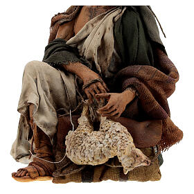 Nativity shepherd with lamb, 18 cm Angela Tripi s4