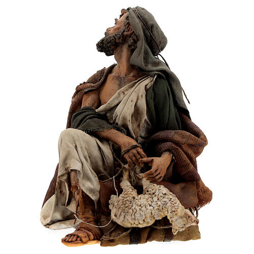 Nativity shepherd with lamb, 18 cm Angela Tripi 3
