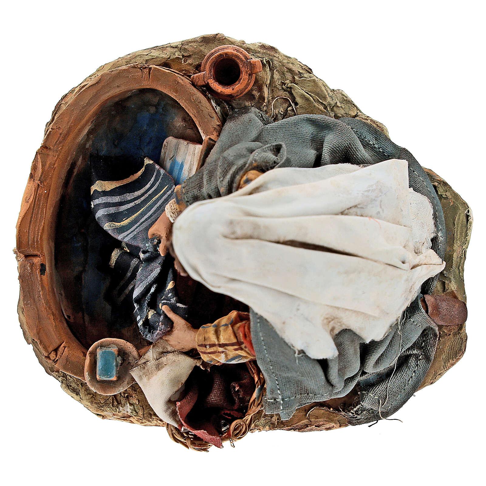 Washerwoman statue, 13 cm Angela Tripi nativity 4