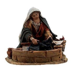 Washerwoman statue, 13 cm Angela Tripi nativity s1