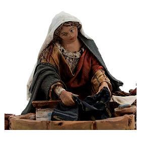 Washerwoman statue, 13 cm Angela Tripi nativity s2
