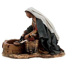 Washerwoman statue, 13 cm Angela Tripi nativity s4