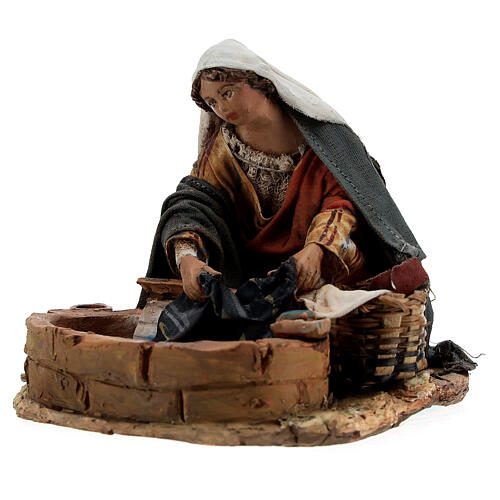 Washerwoman statue, 13 cm Angela Tripi nativity 3
