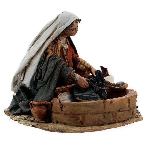 Washerwoman statue, 13 cm Angela Tripi nativity 5