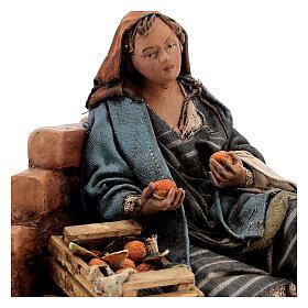 Woman against wall, 13 cm Tripi nativity s2