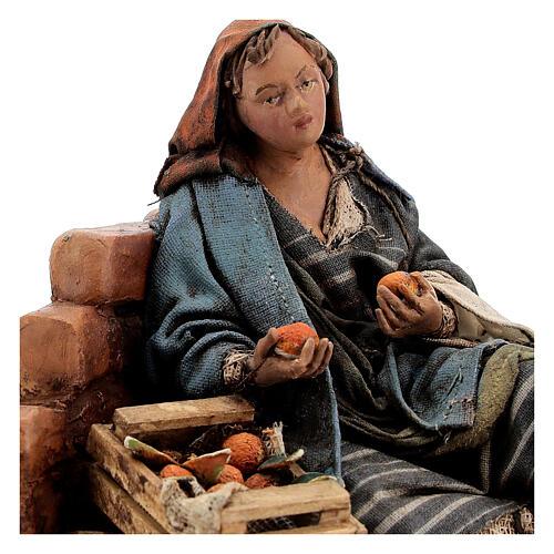 Woman against wall, 13 cm Tripi nativity 2