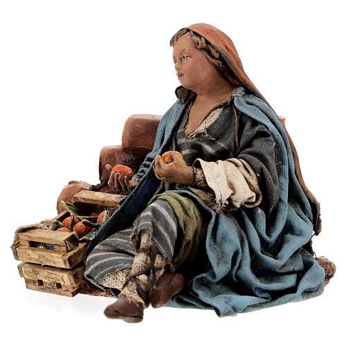 Woman against wall, 13 cm Tripi nativity 3