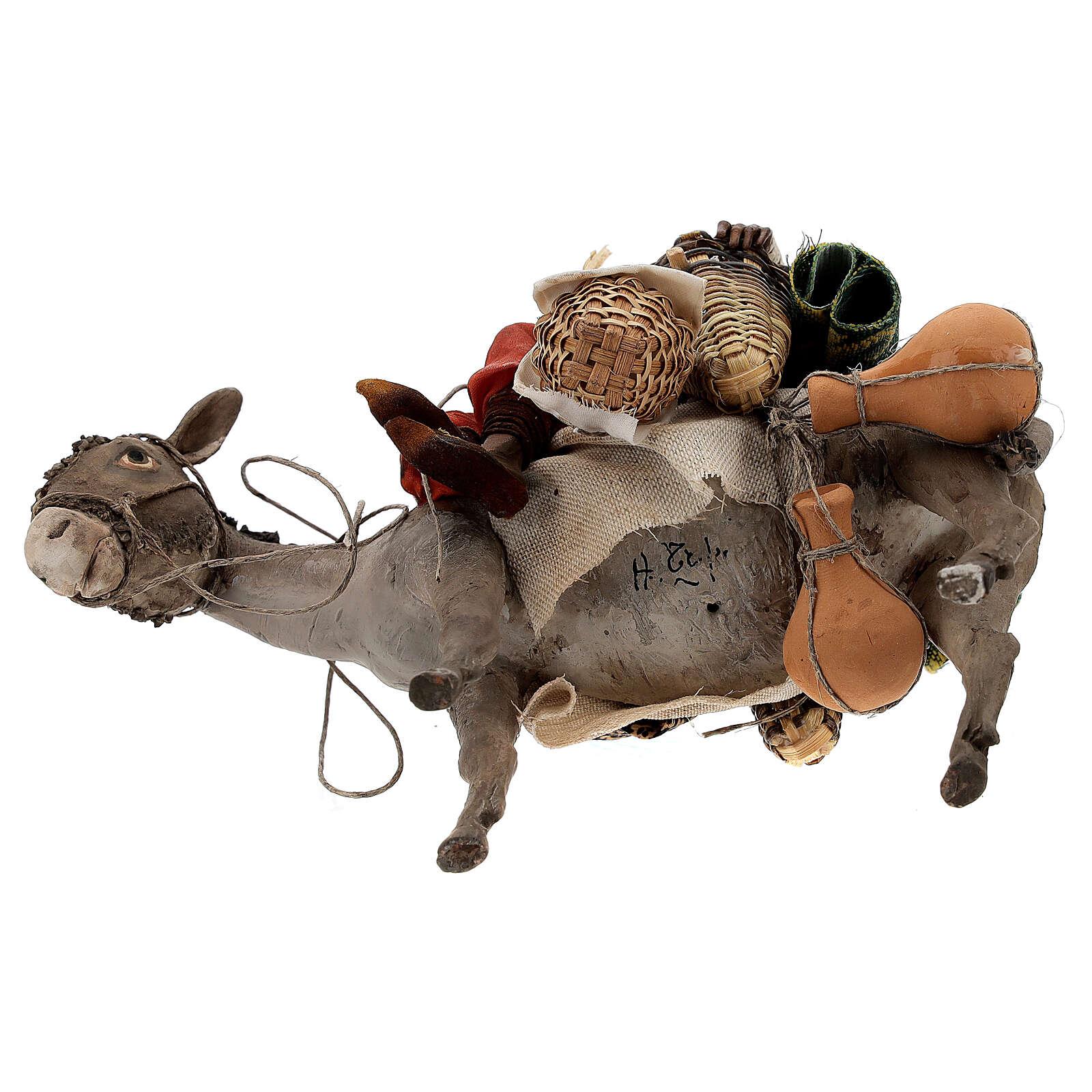Femme maure sur âne 18 cm crèche Angela Tripi 4