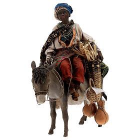 Femme maure sur âne 18 cm crèche Angela Tripi s5