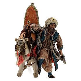 Magi coming down from camel, 13 cm Tripi nativity s4
