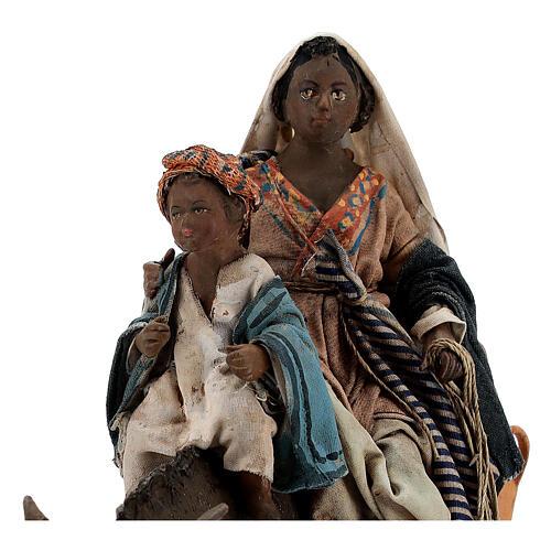 Morena con niño y burro cm 13 Tripi 2
