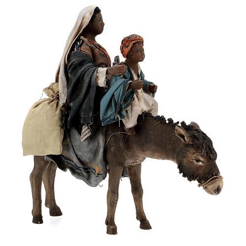 Morena con niño y burro cm 13 Tripi 4