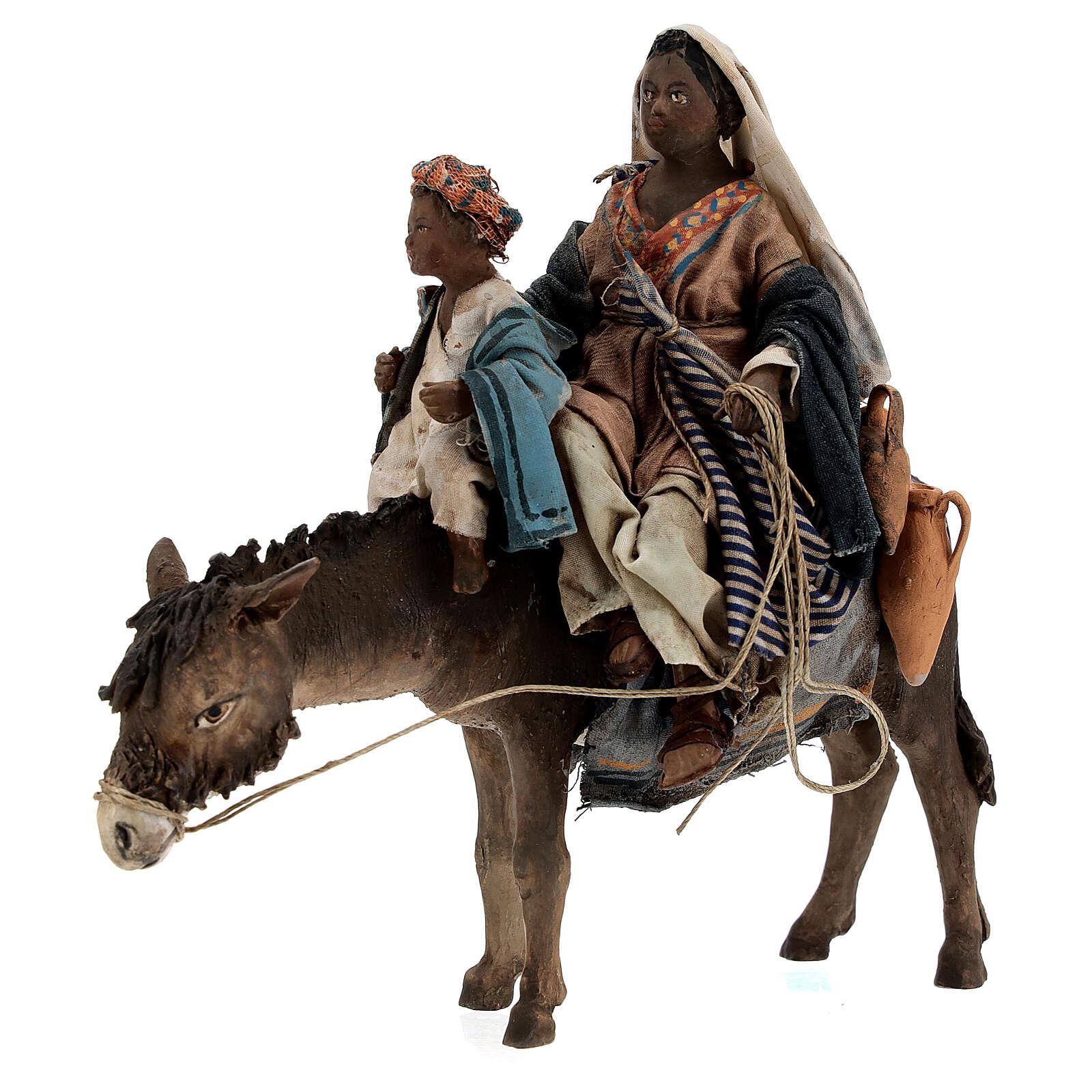Femme maure avec enfant et âne 13 cm crèche Tripi 4
