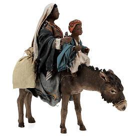 Femme maure avec enfant et âne 13 cm crèche Tripi s4