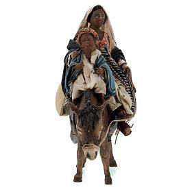 Femme maure avec enfant et âne 13 cm crèche Tripi s5