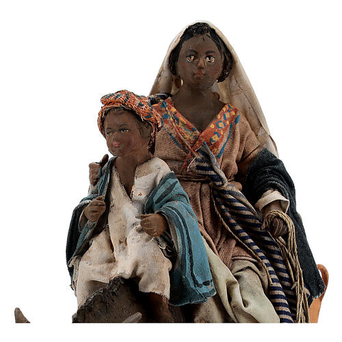 Femme maure avec enfant et âne 13 cm crèche Tripi 2