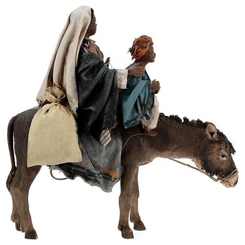 Femme maure avec enfant et âne 13 cm crèche Tripi 7