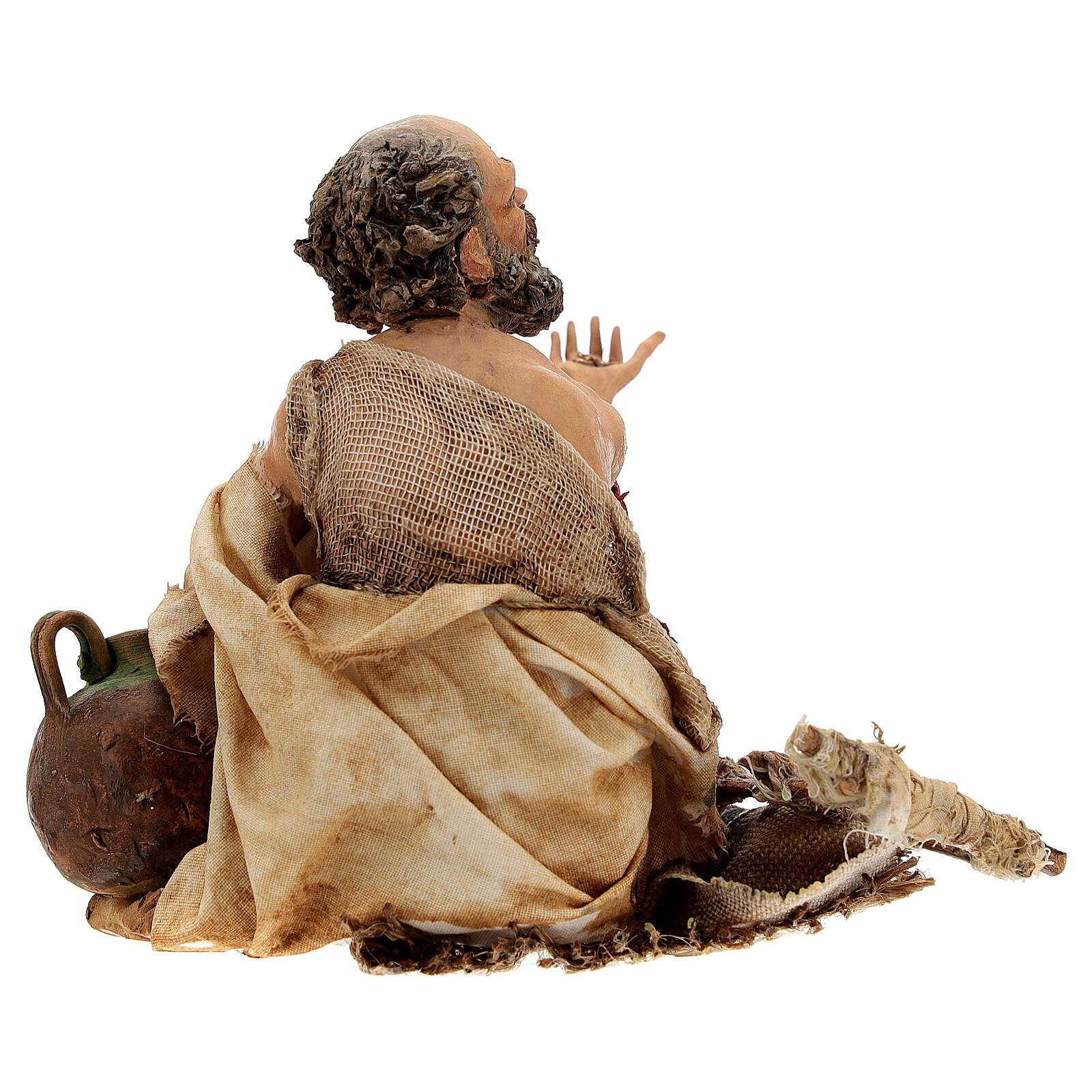 Cripple beggar 18 cm, Angela Tripi nativity 4