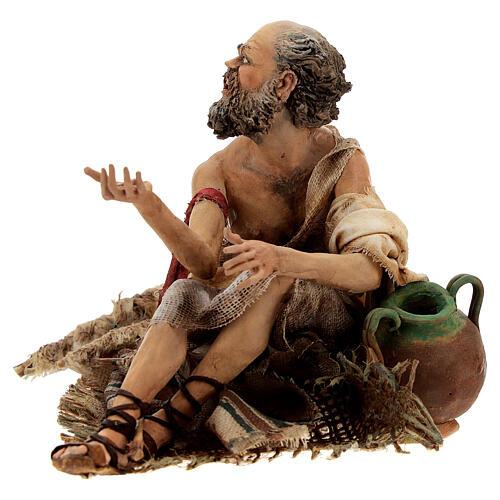 Cripple beggar 18 cm, Angela Tripi nativity 3