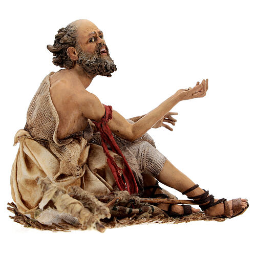 Cripple beggar 18 cm, Angela Tripi nativity 5