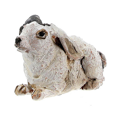 Coniglio per presepe 13 cm, Angela Tripi 2