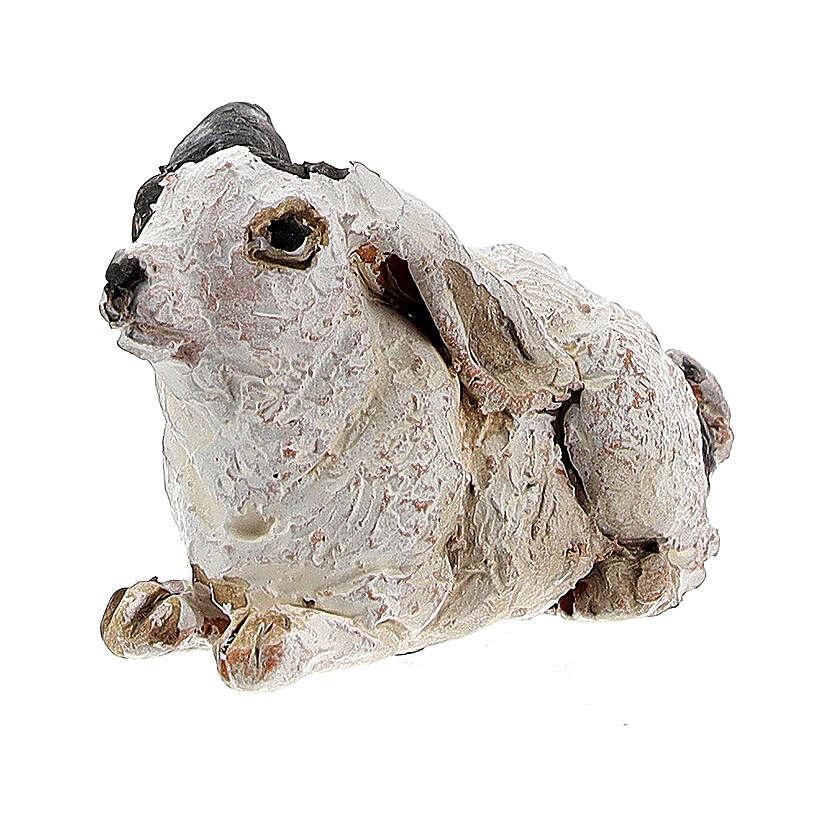 Rabbit figurine for 13 cm nativity, Angela Tripi 4