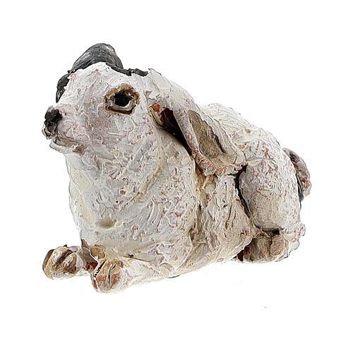 Rabbit figurine for 13 cm nativity, Angela Tripi 2