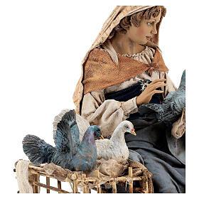 Donna con colombe 30 cm, Tripi s4